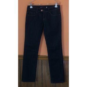 Dark Wash Straight Flap Pocket Jeans